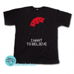 Remera Space Invaders I Want to Believe - Remeras geeks - Remeras juegos