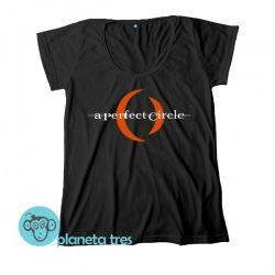 Remera A Perfect Circle Logo  Remera Negra