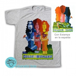 Remera Color Humano Rock Nacional Argentino