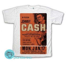 Remera Johnny Cash Poster Live Salem - Remeras Rock Clásico - Argentina