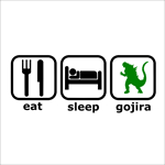 Remera Eat Sleep Gojira