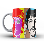 Taza The Beatles Caras de Colores