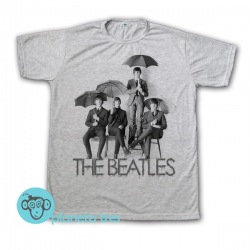 Remera The Beatles con Paraguas - Remeras Rock Clásico