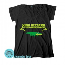 Remera King Gizzard & The Lizard Wizard con el Lagarto - Remeras de Rock