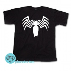 Remera Venom Logo Araña - Remeras de Superhéroes