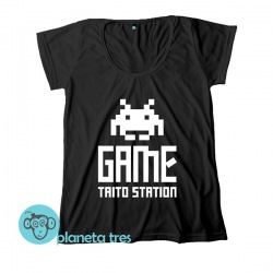 Remera Taito Game Station - Remeras Gamers, Videojuegos y GeeksRemera Taito Game Station