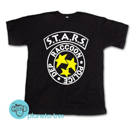 Remera S.T.A.R.S Resident Evil Negra - Remeras de Cine y Gamers
