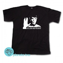 Remera Star Trek Spock Live Long and Prosper
