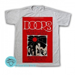 Remera The Doors Poster Cow Palace Concert - Remeras Rock Clásico