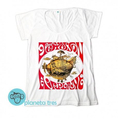 Remera Jefferson Airplane Globo Volador - Remeras Rock Psicodélico Mujeres