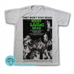 Remera Night Of The Living Dead Poster - Remeras Películas Zombies y De Terror