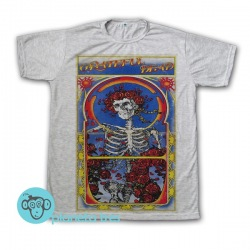 Remera Grateful Dead Skull And Roses - Remeras Rock Clásico