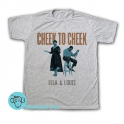 Remera Ella and Louis Cheek to Cheek - Remeras Jazz