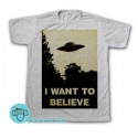Remera The X Files I Want To Believe Poster