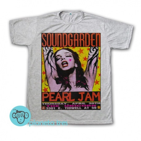 Remera Soundgarden Pearl Jam Poster - Remeras de Rock de Bandas 90s