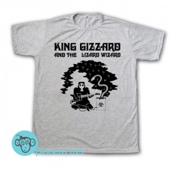 Remera King Gizzard & The Lizard Wizard Flying Microtonal Banana ByN - Rock - Argentina - Remeras Rock Hombres y Niños