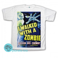 Remera I Walked With A Zombie Póster - Remera de películas de terror clásico