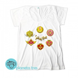 Remera Sailor Moon Símbolos