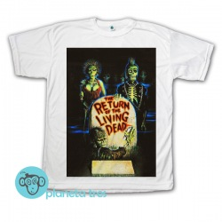 Remera The Return Of The Living Dead Póster 80s - Remeras de Películas de Zombies de los 80s - Todos los talles.