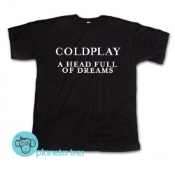 Remera Coldplay A Head Full of Dreams