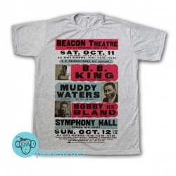 Remera B.B. King,  Muddy Waters y Bobby Bland