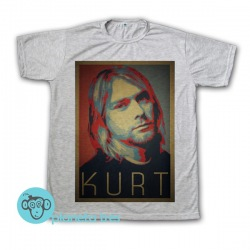 Remera Kurt Cobain Cara - Remeras de Rock
