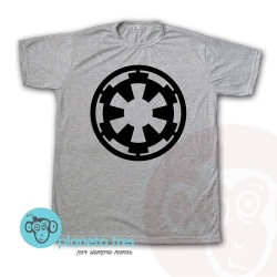 Remera Star Wars Imperio Manga Corta Gris